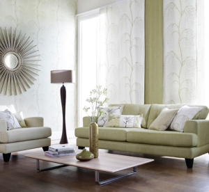 Colours can lift the spirit but soothing neutrals will having a calming effect - ideal for living rooms