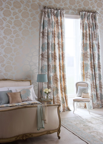 elegant bedroom curtains Interior Designs
