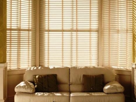 bay window venetian blinds