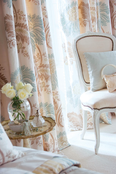 silk blinds and curtains