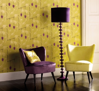 Wallpaper and co-ordinating fabrics
