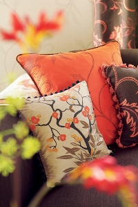 harlequin silk cushions