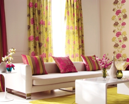 curtain fabric with matching wallpaper