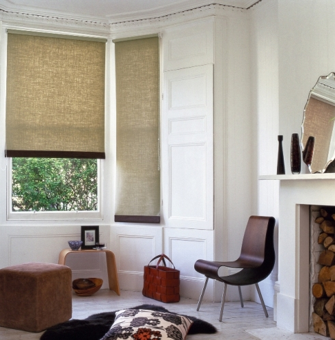 neutral coloured roller blinds