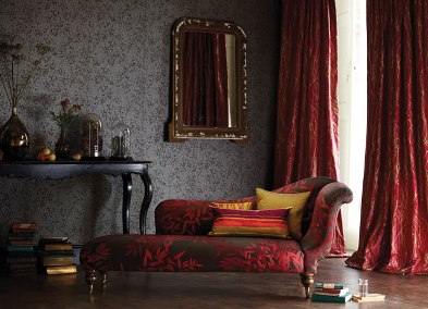 blinds and curtains in warm colours