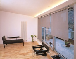 roller blinds in lilac
