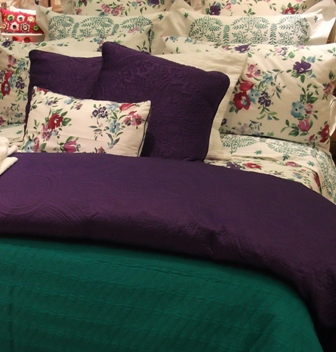 bright coloured bedding