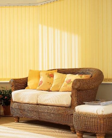 yellow vertical blind
