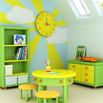 Green and yellow childrens furniture