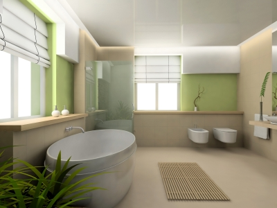 white roman blinds compliment the white sanitary ware in a bathroom