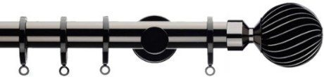 black metal curtain pole