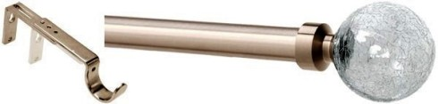 speedy curtain pole with glass finial