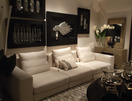 contemporary cream living room