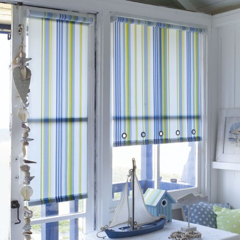 striped roller blinds