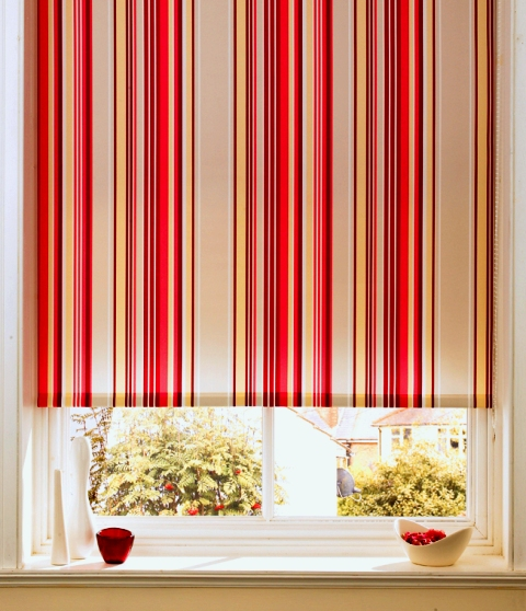 striped roller blind