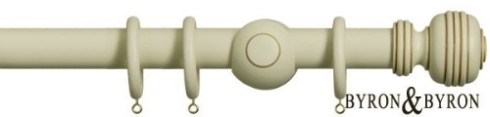 cream washed curtain poles
