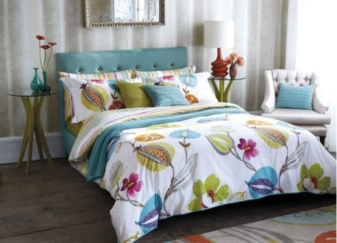 turquoise makes a particularly attractive summer colour for bedrooms