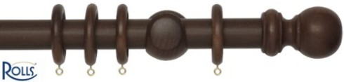 dark wood stained curtain pole