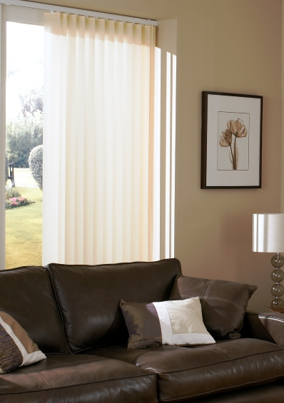 neutral vertical blind