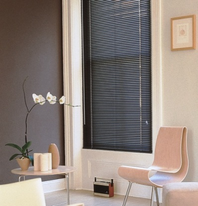 dark wooden venetian blind